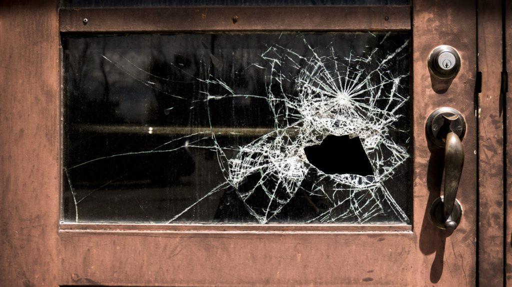 Image of Broken Glass Door