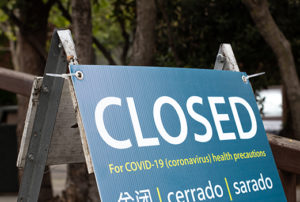 COVID Closed Sign