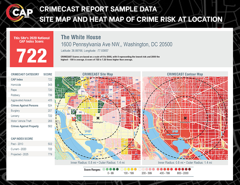 CRIMECAST Report Sample Images - 3 Mile Summary page